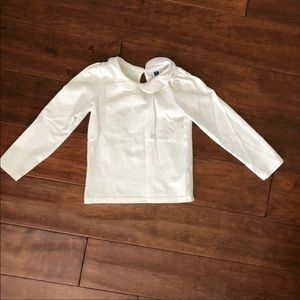 Janie and Jack White Collar Tee Size 4